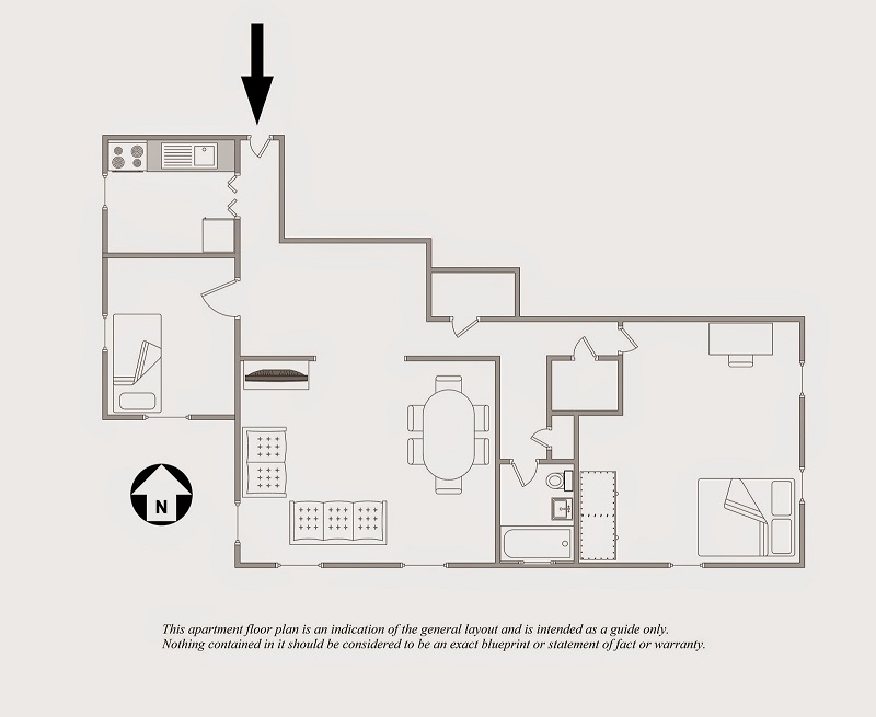 Professional Astoria (Queens) Floor Plan for one bedroom apartment