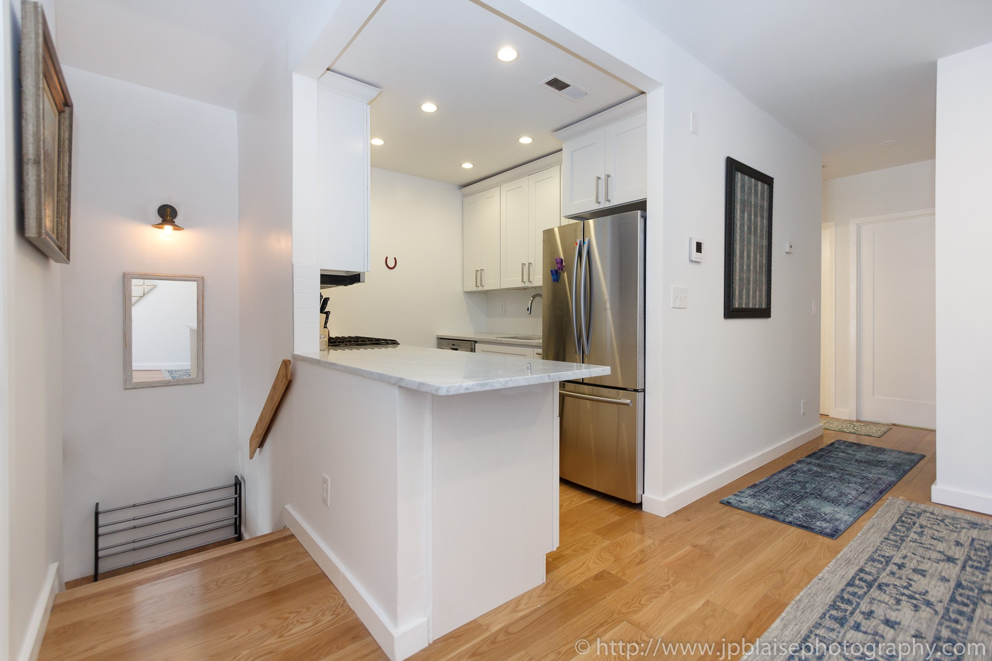Brooklyn Real Estate photographer three bedroom apartment NYC New York kitchen