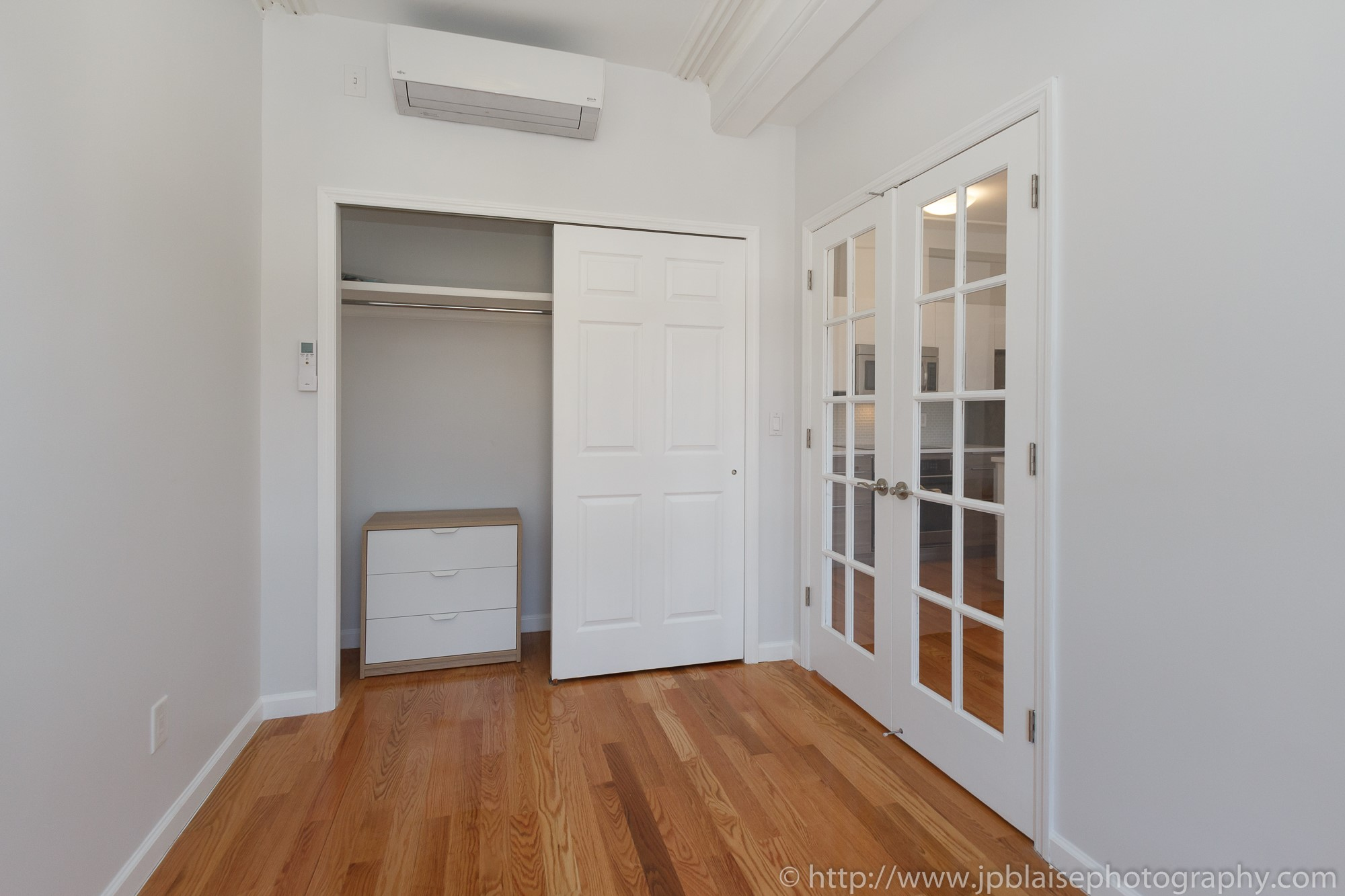 Brooklyn interior photographer work one bedroom in bedford stuyvesant new york closet
