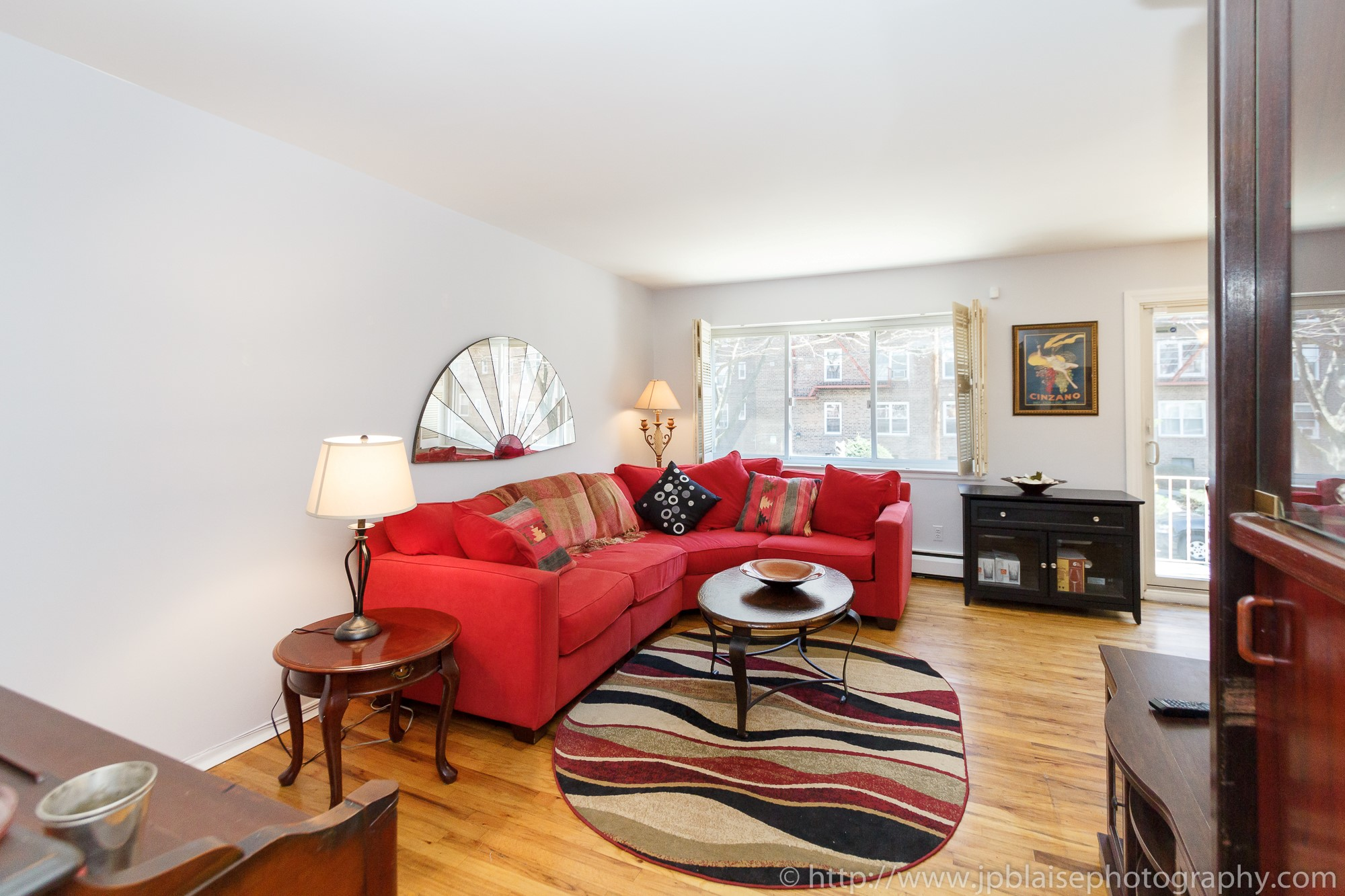 Interior Photographer photosession two bedoom apartment in sunnyside queens picture of living room