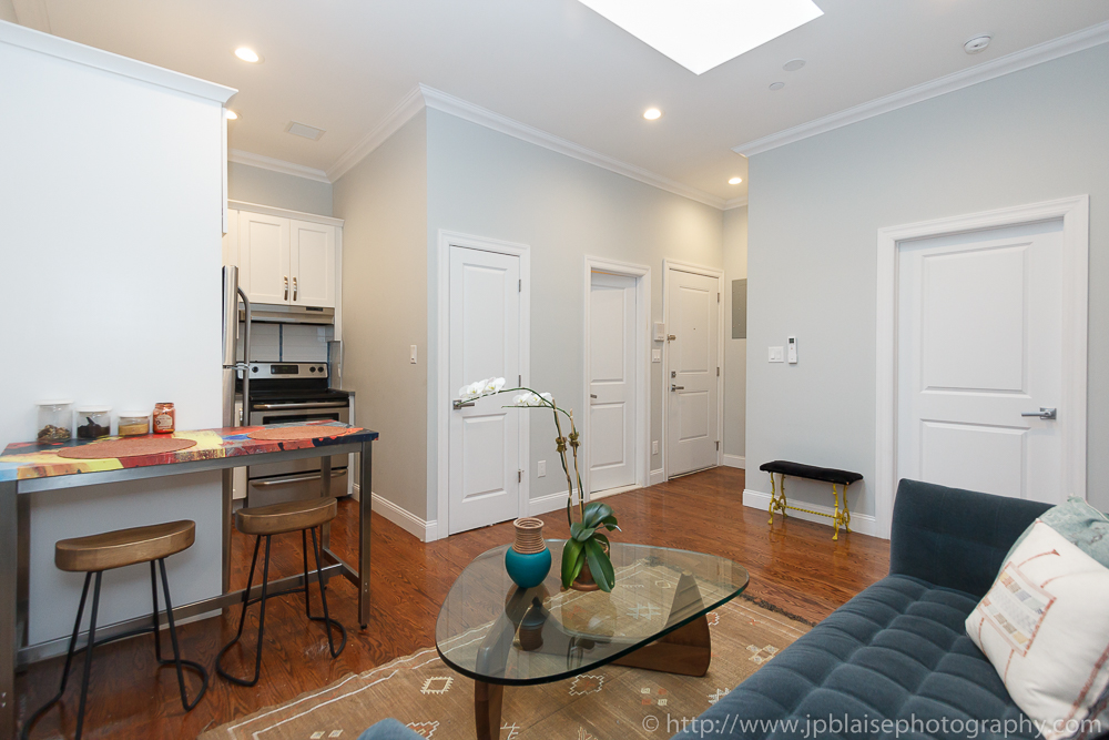 NYC interior photographer photo: living space of Harlem apartment