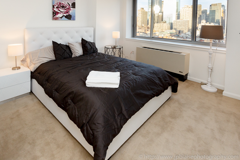 New York Real Estate Photographer: Bedroom Room Of Two Bedroom Apartment In  Midtown Manhattan New