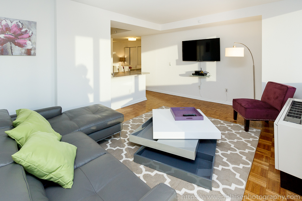 Interior photographer work of the day modern two bedroom for 1 bedroom apartments for sale nyc