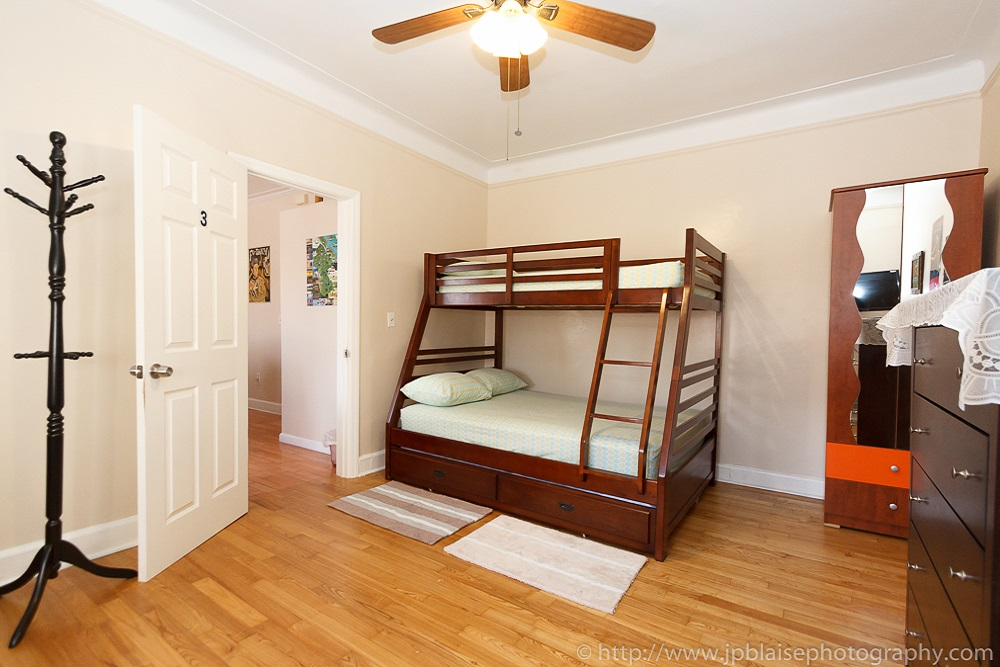 New York interior photographer work: picture of a bedroom of an apartment in East Flatbush, Brooklyn