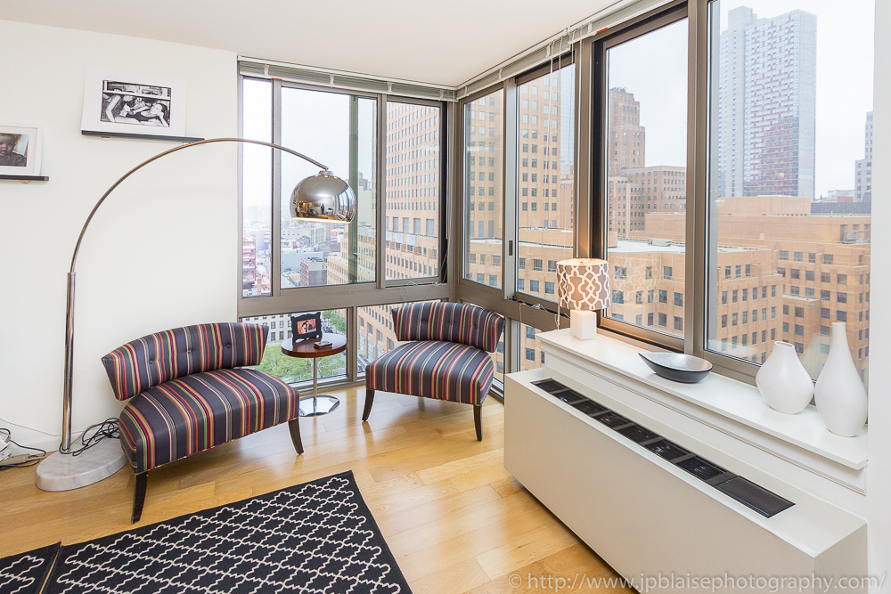 Living Room Dumbo with Views of Downtown Brooklyn