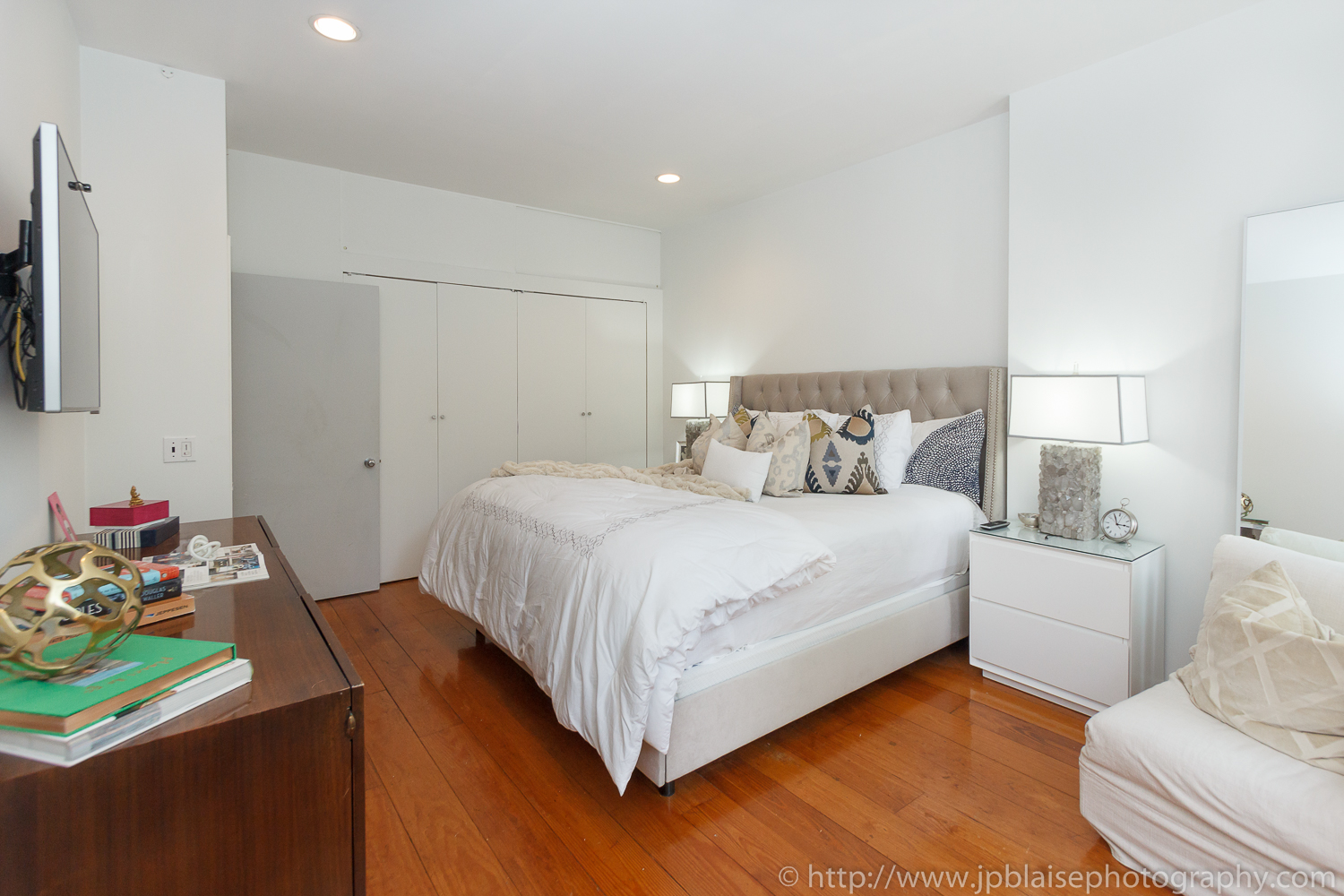 Master bedroom real estate photography chelsea two bedroom apartment new york city