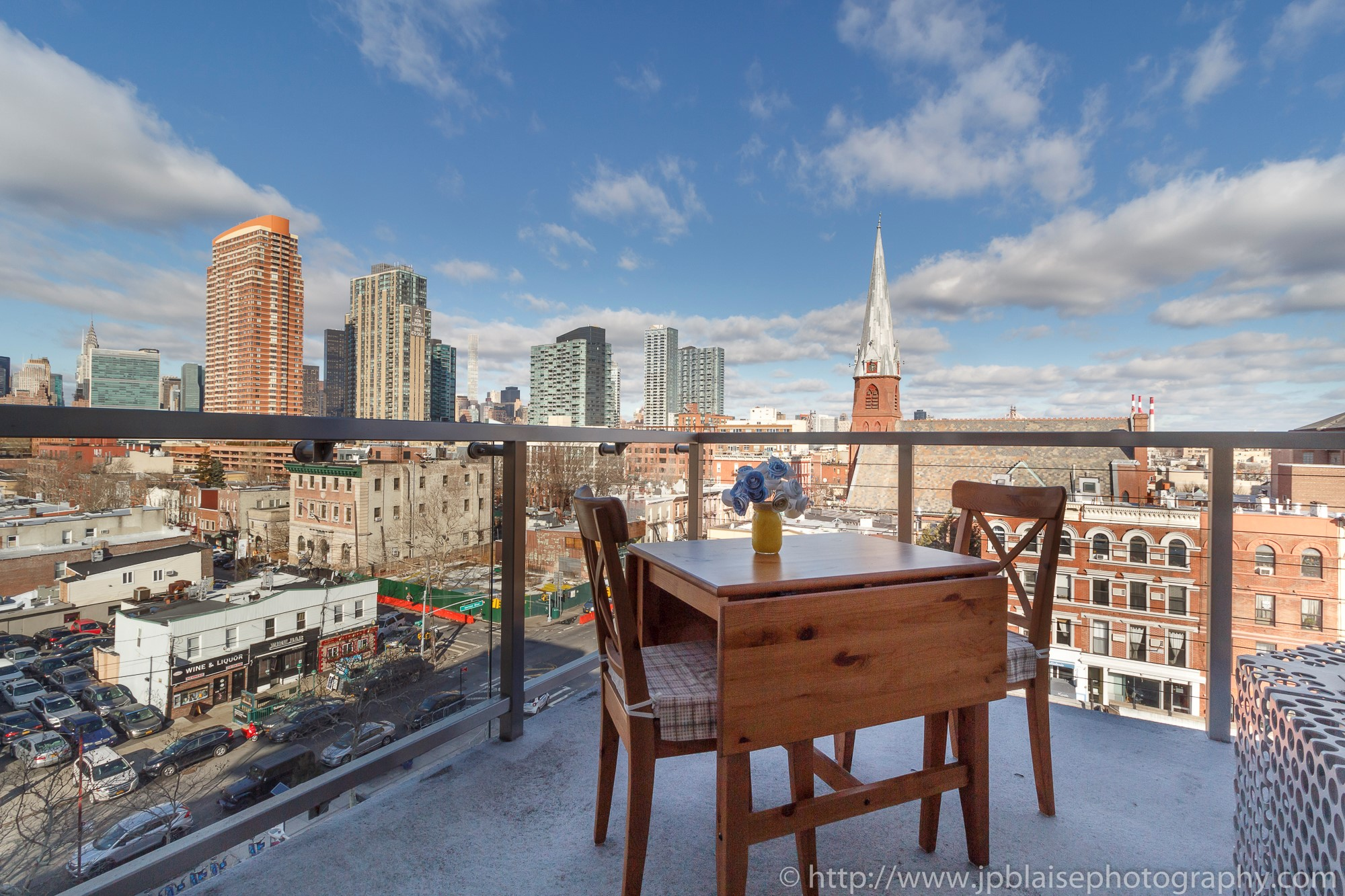 NYC apartment photographer one bedroom real estate interior long island city Queens balcony