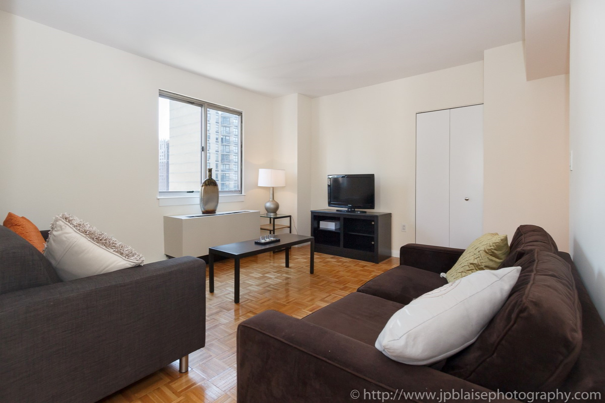NYC apartment photographer two bedroom midtown living room ny