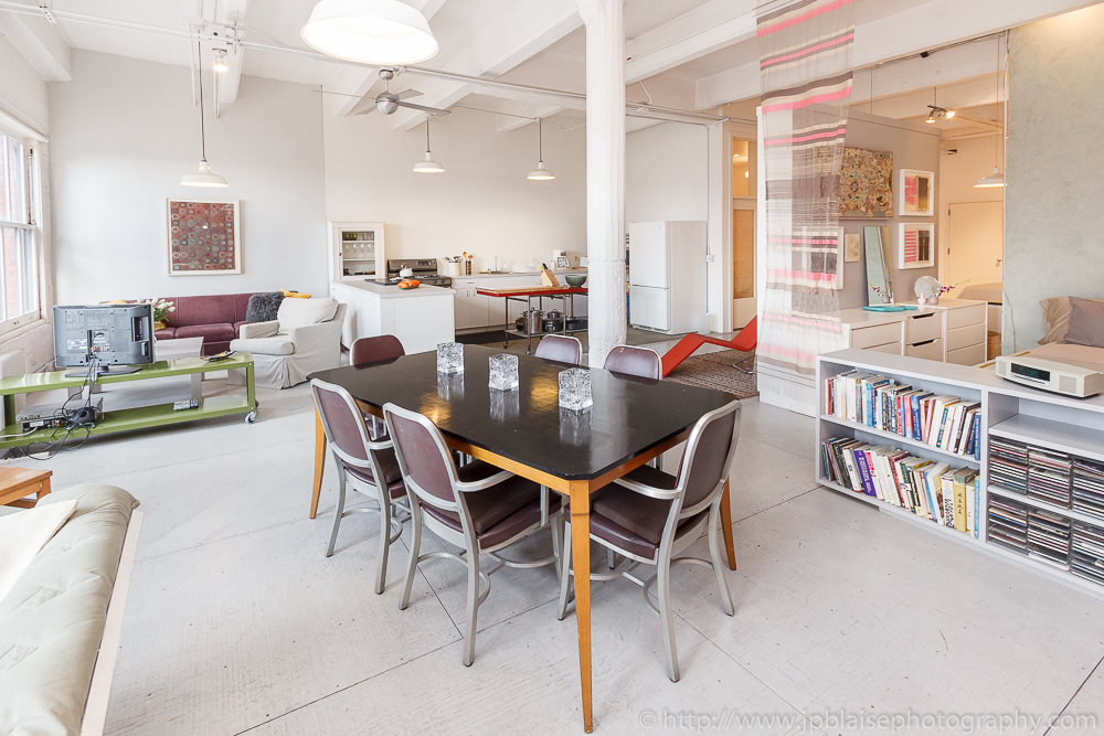 New York Apartment photographer work modern loft in Chelsea