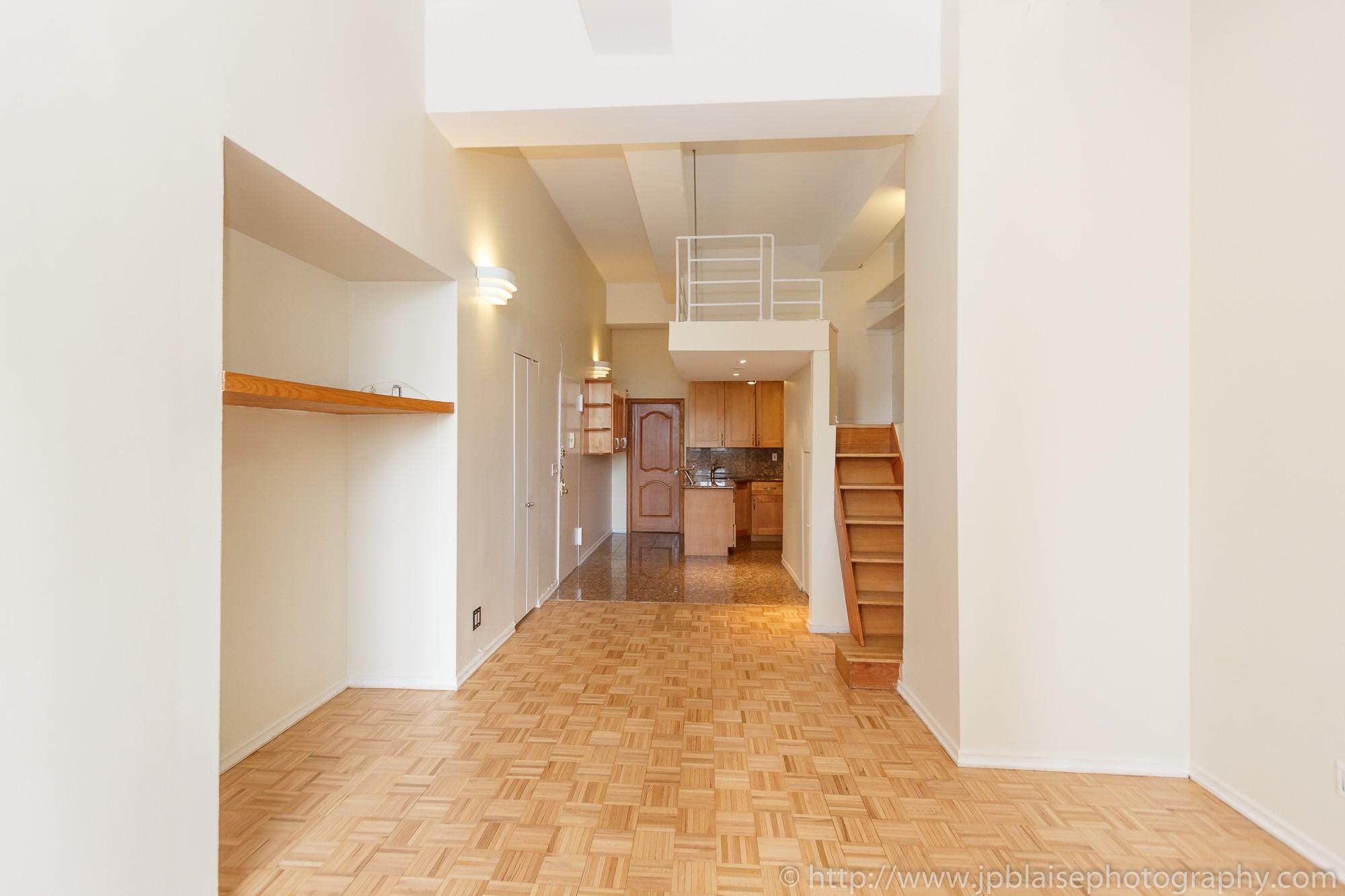 New York City apartment photographer Midtown East One Bedroom unit mezzanine