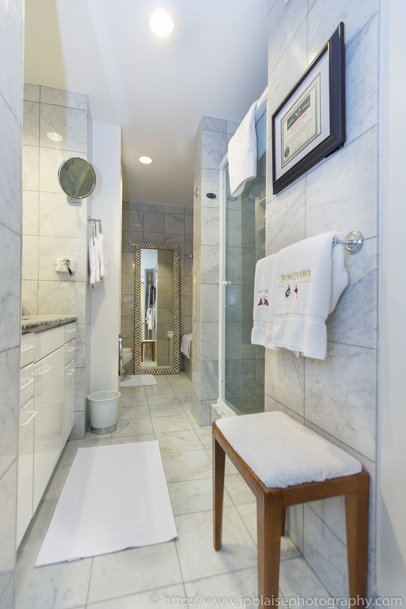 New York City apartment photographer one bedroom Midtown NYC bathroom