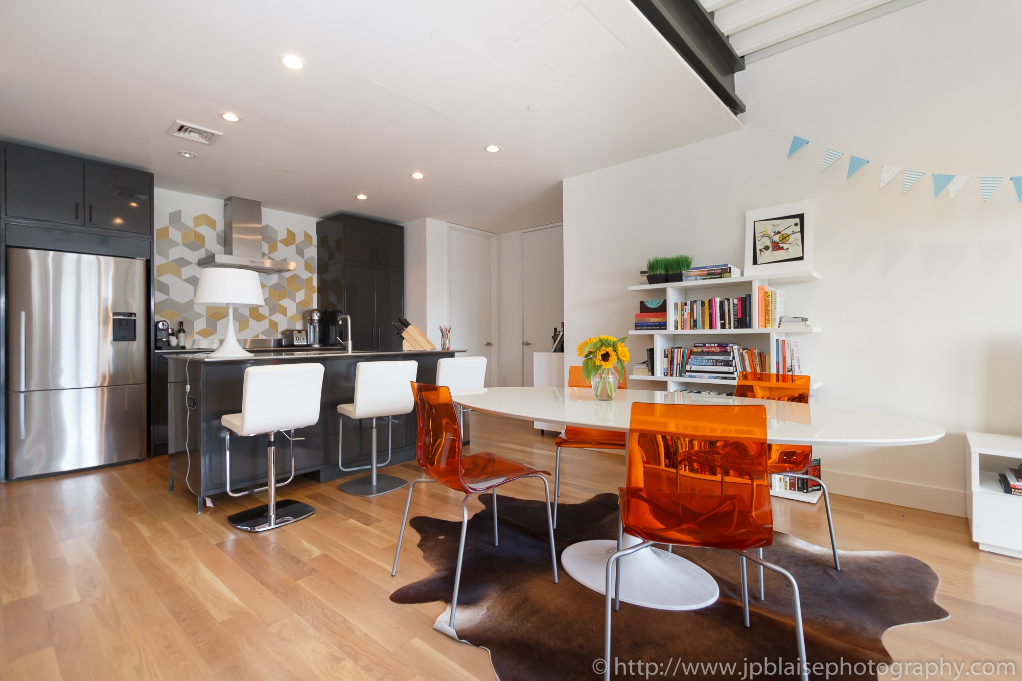 New York apartment photographer 3 bedroom unit downtown brooklyn living room ny