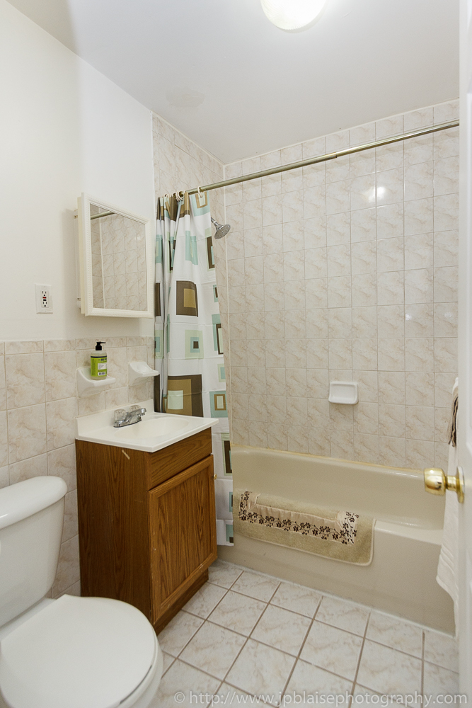 NY Apartment photographer work  Bathroom of Bedford stuyvesant apartment   Brooklyn  NY. Latest Real Estate photographer work  One bedroom apartment in