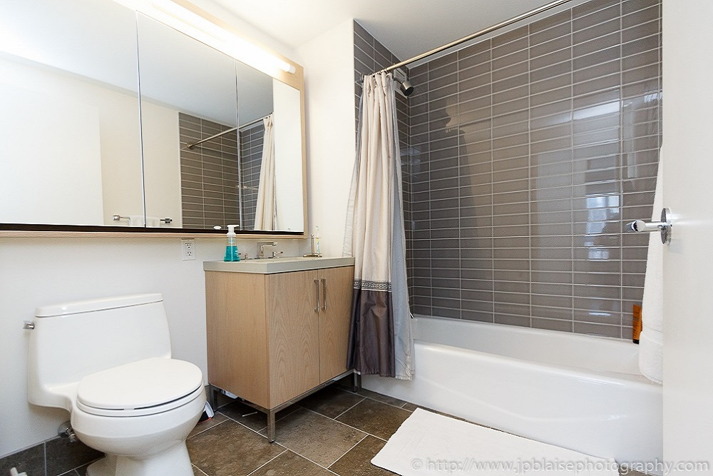 NY Interior photographer work of the day: picture of the bathroom of a Chelsea one bedroom apartment