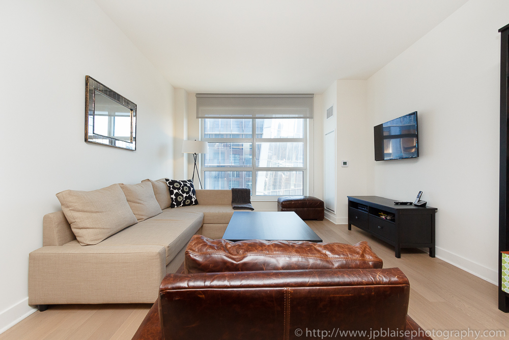 Interior photographer work of the day: picture of the living room of a Chelsea one bedroom apartment