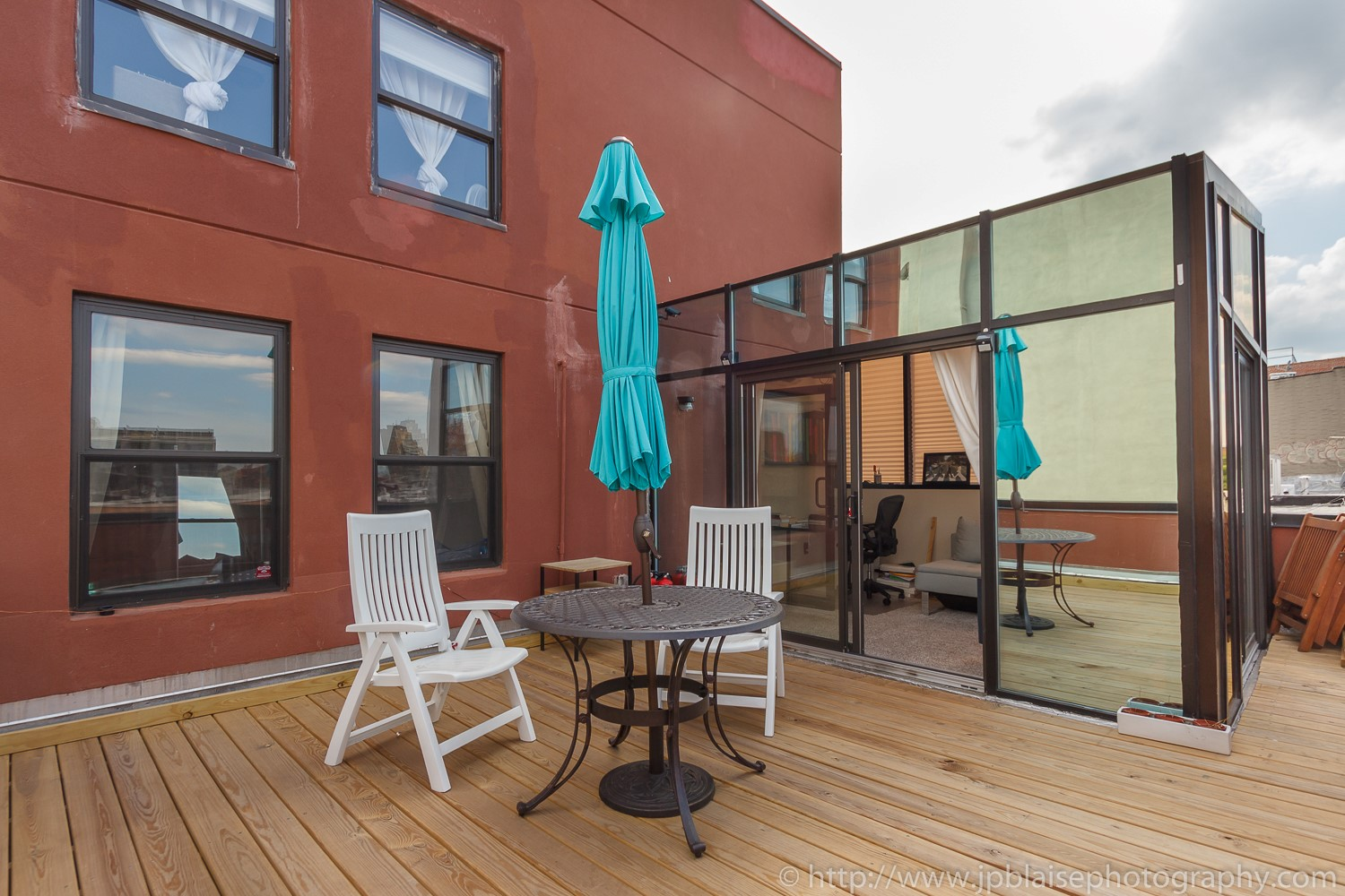 Real Estate photography Terrace one bedroom apartment in Williamsburg Brooklyn New York