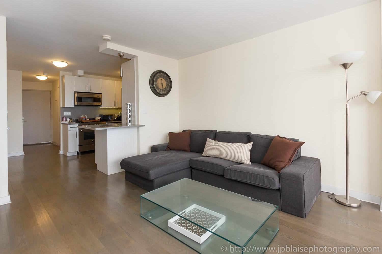 Real estate photographer work studio apartment in midtown east New York
