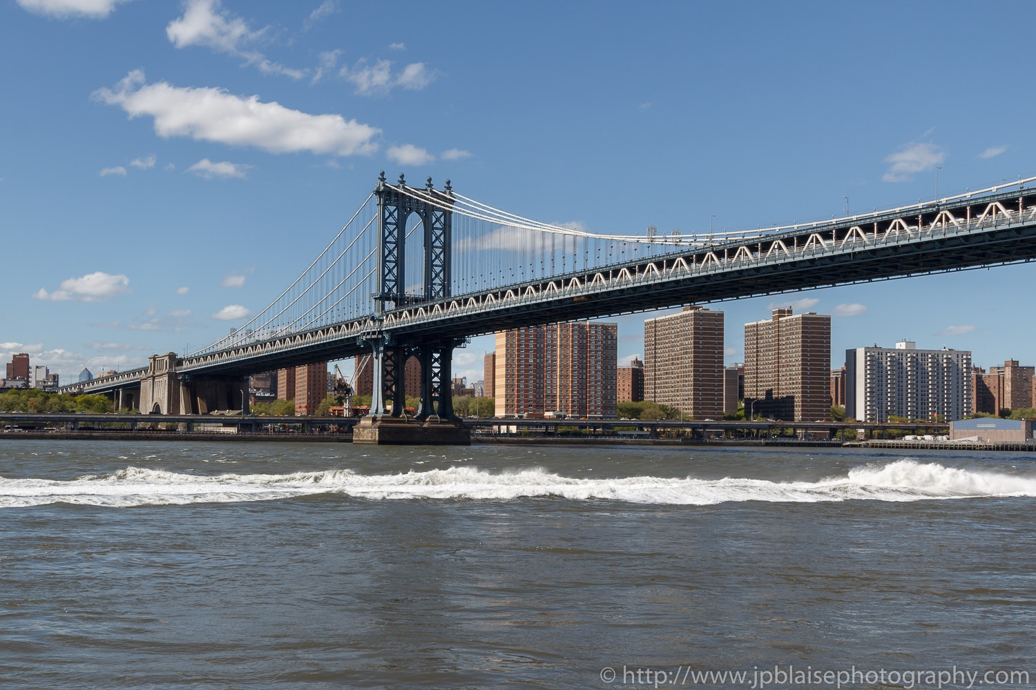 Apartment photography views of the manhattan bridge from the brooklyn waterfront