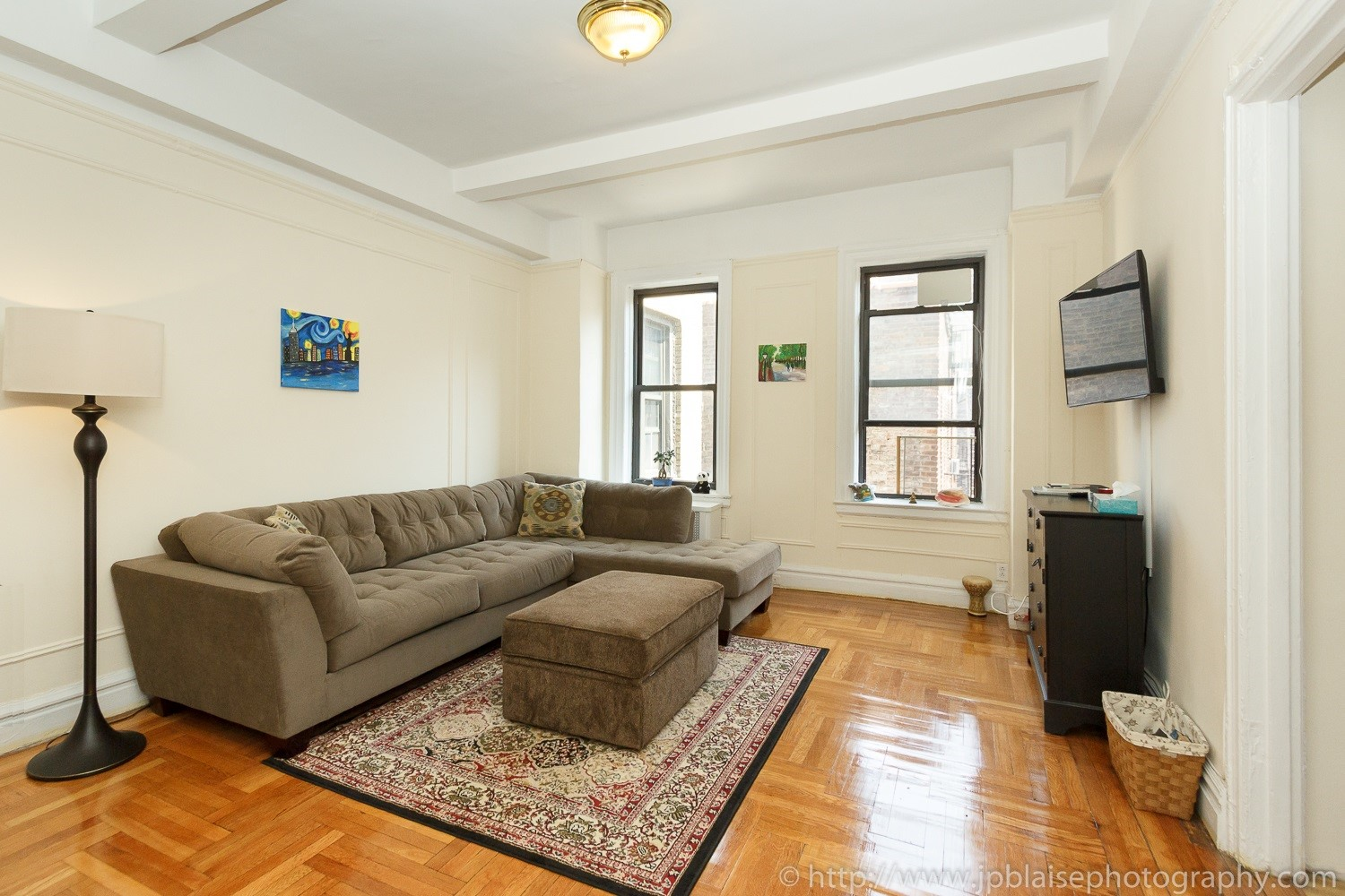 Real estate photography work one bedroom in washington heights new york city