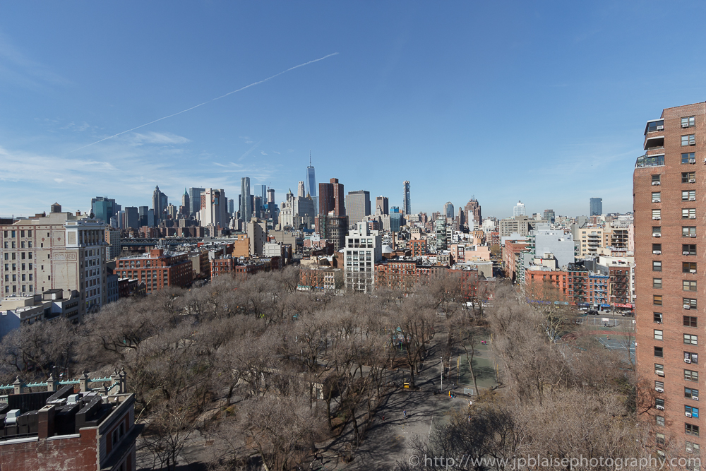Beautiful downtown skyline views from Lower East Side apartment
