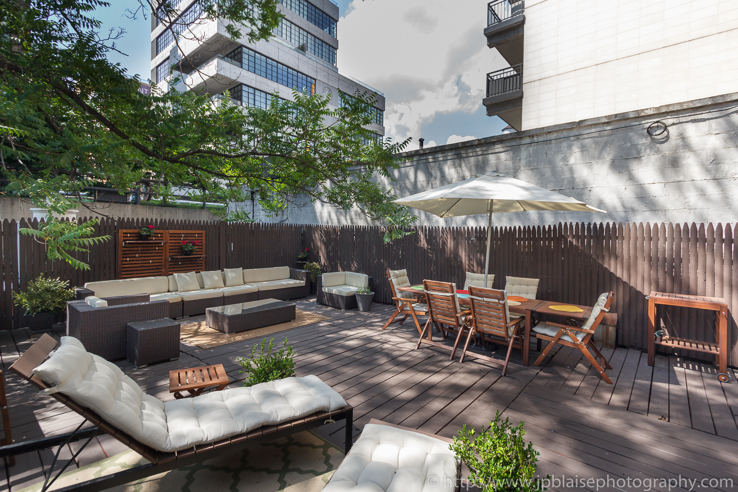 Terrace Real estate photography chelsea two bedroom apartment new york city
