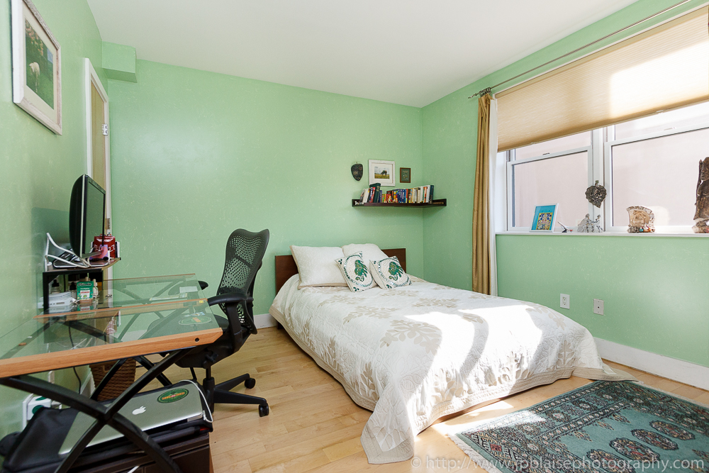 Professional photography of second bedroom of duplex unit in Williamsburg, Brooklyn, New York