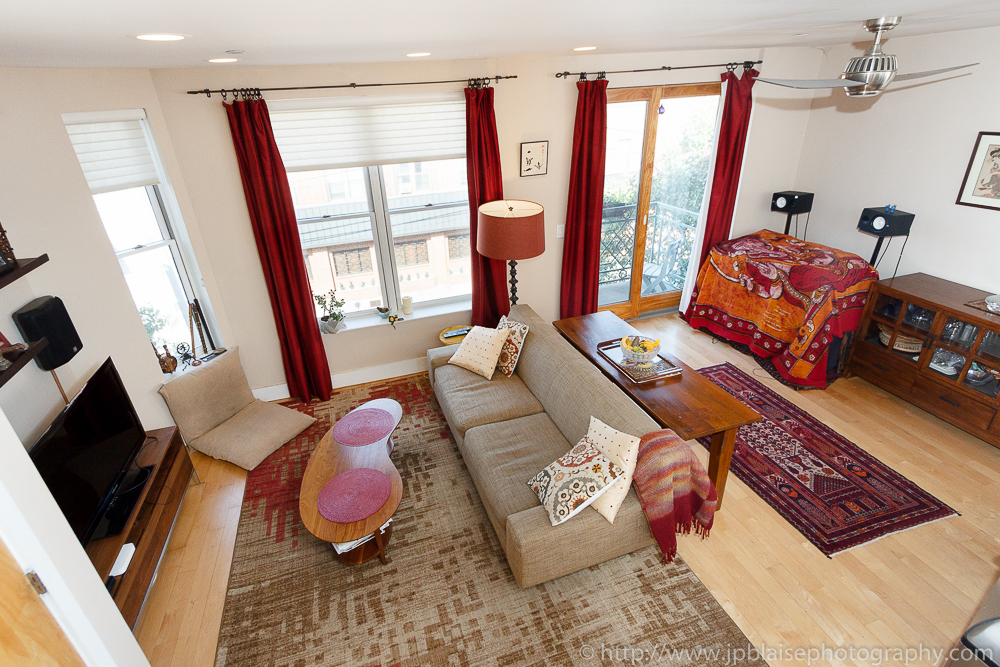 Professional picture of living room in 3 bedroom duplex apartment in Williamsburg, Brooklyn, New York City