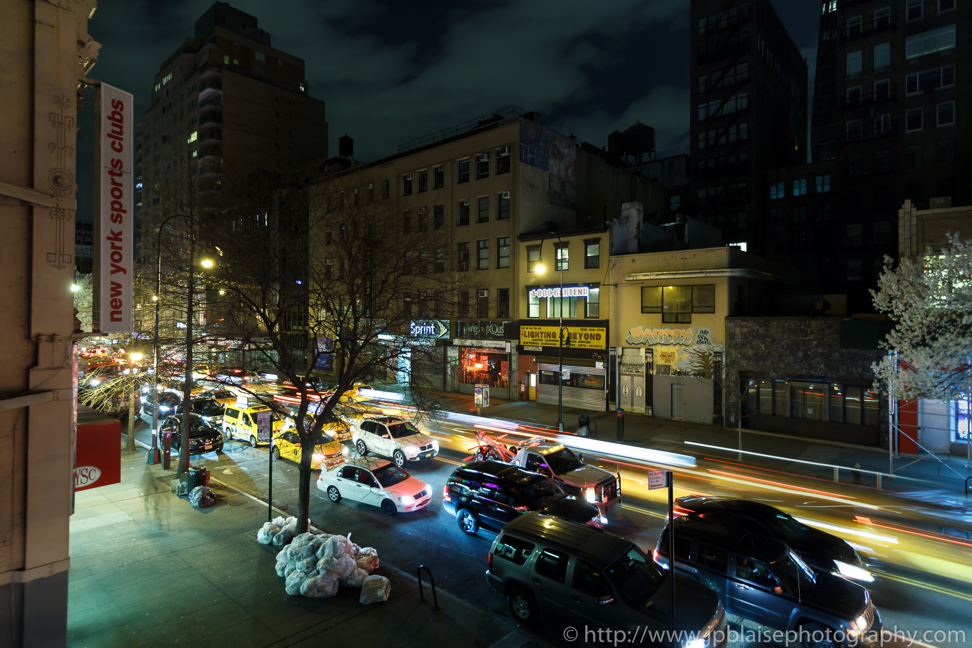 photography of 14th Street on a Friday Night in New York City